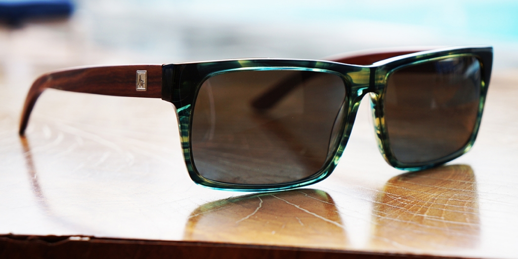 Green Marble & Rosewood Sunglasses